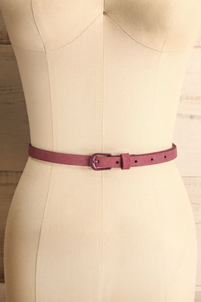 Caballo Mauve Purple Leather Belt | La Petite Garçonne 1
