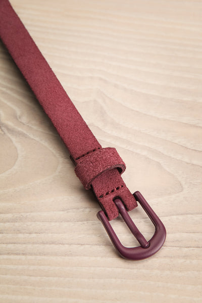 Caballo Mauve Purple Leather Belt | La Petite Garçonne 3
