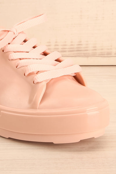 Cabbia Rose | Pink Laced Shoes