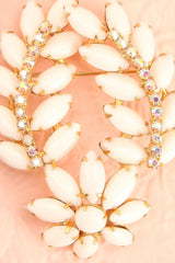 Caesarissa White and Gold Vintage Brooch | Boudoir 1861