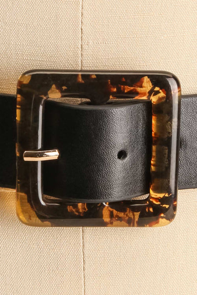 Cogo Black Belt with Marbled Amber Buckle | La Petite Garçonne 2