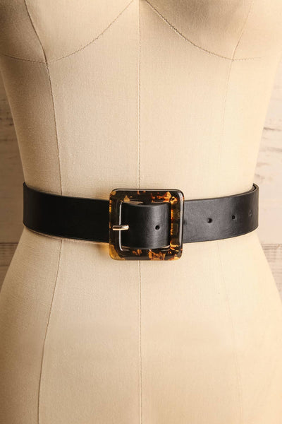 Cogo Black Belt with Marbled Amber Buckle | La Petite Garçonne 1