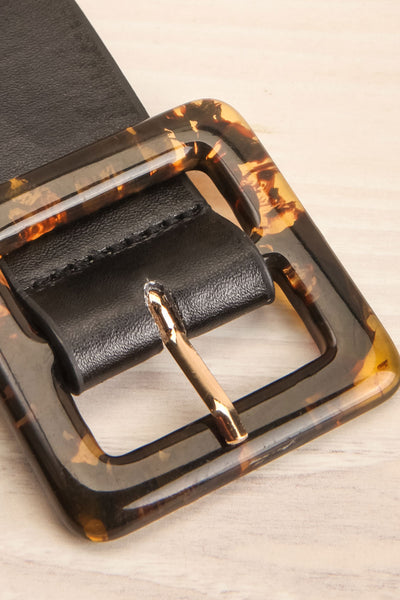 Cogo Black Belt with Marbled Amber Buckle | La Petite Garçonne 4