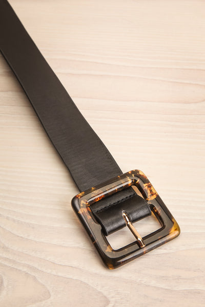 Cogo Black Belt with Marbled Amber Buckle | La Petite Garçonne 3