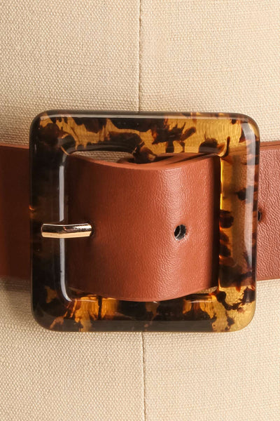 Cogo Brown Belt with Marbled Amber Buckle | La Petite Garçonne 2