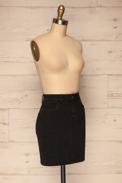 Cahul Storm Black Denim Skirt | La petite garçonne side view
