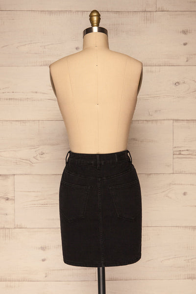 Cahul Storm Black Denim Skirt | La petite garçonne back view