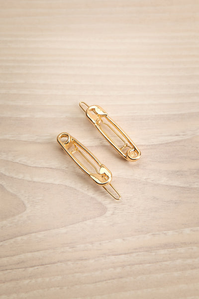"Caireen Golden ""Safety Pin"" Hair Clips 