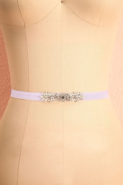 Calathéa Lilas Purple Ribbon Belt with Crystals | Boudoir 1861 3