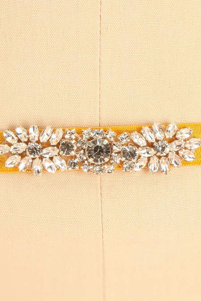 Calathéa Moutarde - Yellow belt with a crystal ornament 4