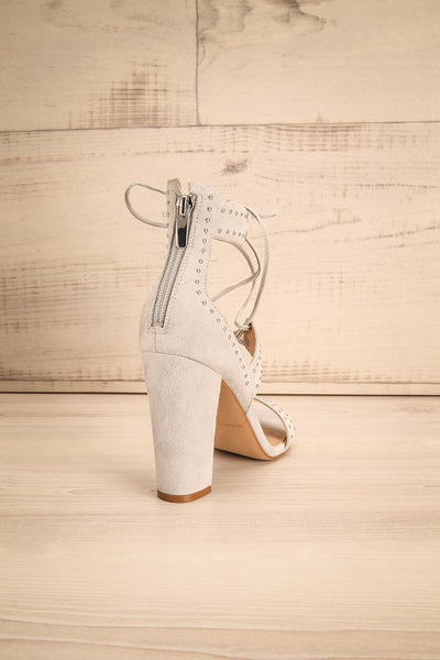 Caldirola Light Grey Strappy Sandals back view | La Petite Garçonne Chpt. 2