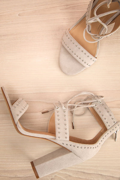 Caldirola Light Grey Strappy Sandals flat laay | La Petite Garçonne Chpt. 2
