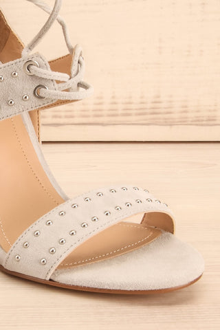Caldirola Light Grey Strappy Sandals front close-up | La Petite Garçonne Chpt. 2