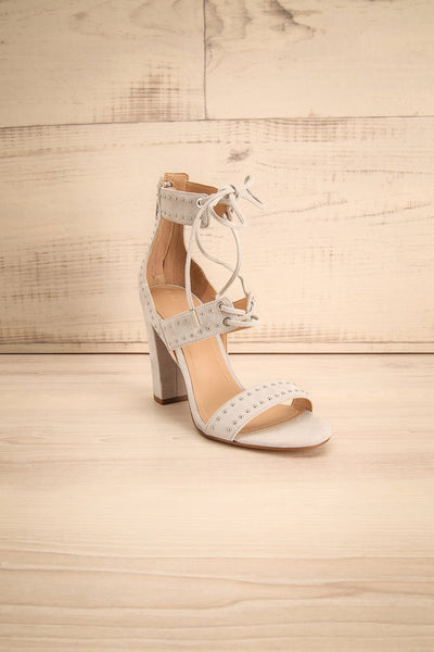 Caldirola Light Grey Strappy Sandals front view | La Petite Garçonne Chpt. 2