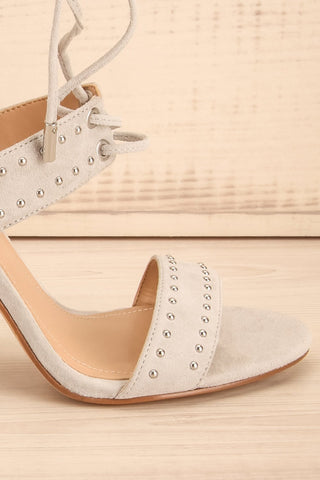 Caldirola Light Grey Strappy Sandals side front close-up | La Petite Garçonne Chpt. 2