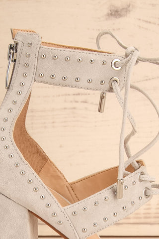 Caldirola Light Grey Strappy Sandals side close-up | La Petite Garçonne Chpt. 2