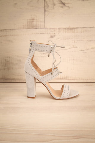 Caldirola Light Grey Strappy Sandals side view | La Petite Garçonne Chpt. 2