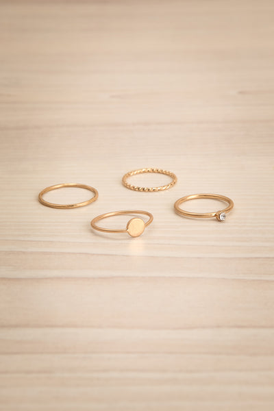 Cambugan Set of 4 Golden Rings | La Petite Garçonne 1