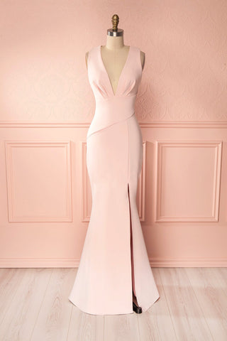 Camila Aube Light Pink Mermaid Gown | Boudoir 1861
