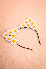 Camomille - flowered cat-ears headband