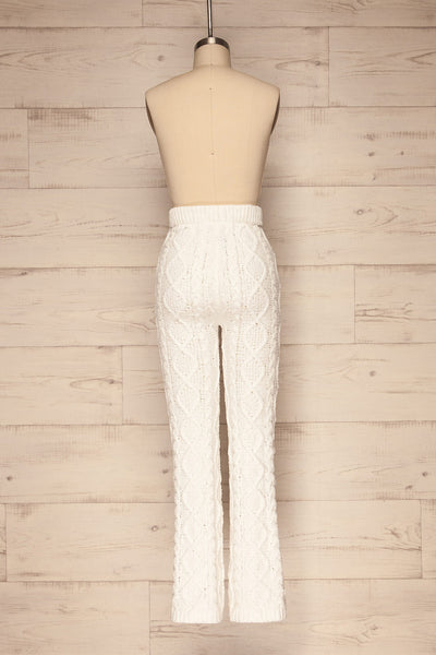Canaan White Lounge Pants | Pantalon | La Petite Garçonne back view