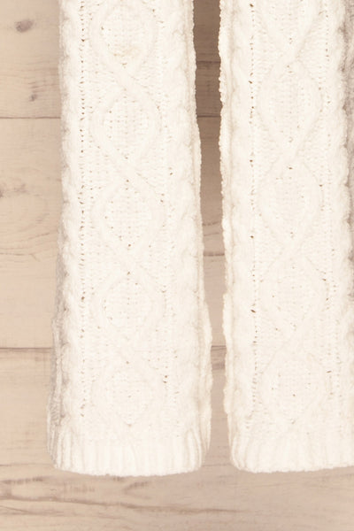 Canaan White Lounge Pants | Pantalon | La Petite Garçonne bottom close-up