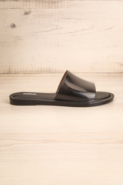 Caplat Black | Slip-on Sandals