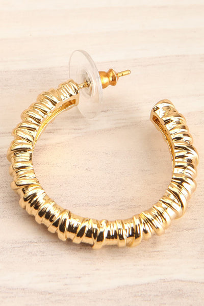 Caraquez Gold Hoop Earrings | La petite garçonne close-up