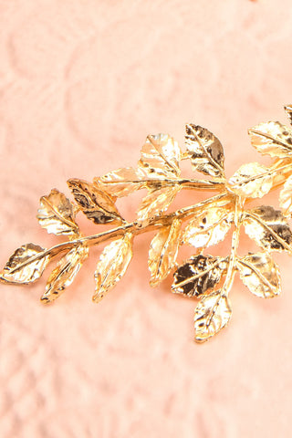 Carondelet Set of 2 Golden Branch Hair Pins big close-up | Boudoir 1861