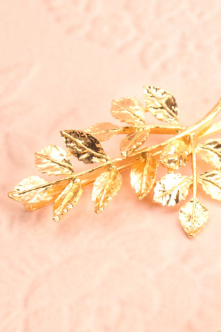 Carondelet Set of 2 Golden Branch Hair Pins small close-up | Boudoir 1861