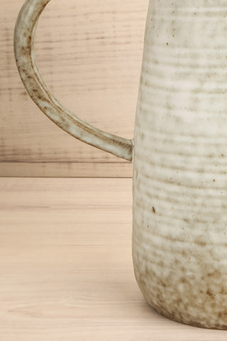 Carrare Grey Ceramic Pitcher handle close-up | La Petite Garçonne Chpt. 2
