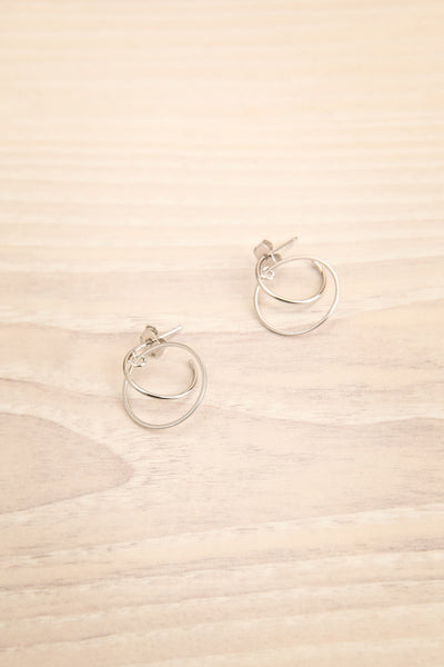 Casadel Silver Small Double Hoop Earrings | La Petite Garçonne
