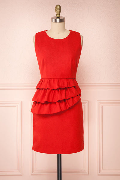 Cassandre | Red Felt Dress