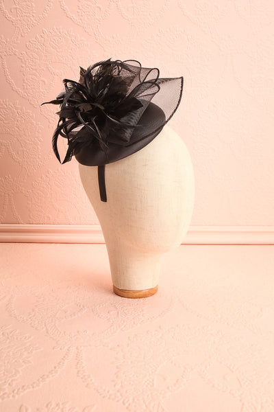 Casseille Black Fascinator w/ Feathers | Boudoir 1861