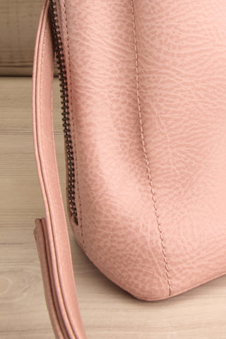 Cassidi Rose Pink Matt & Nat Crossbody Bag side bottom close-up | La Petite Garçonne