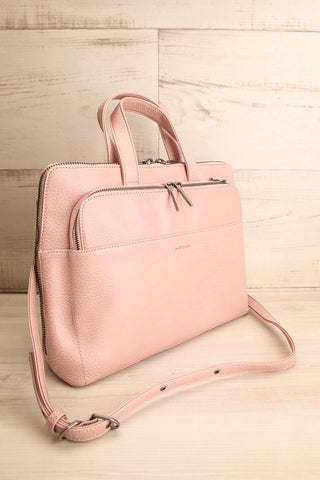Cassidi Rose Pink Matt & Nat Crossbody Bag side view | La Petite Garçonne