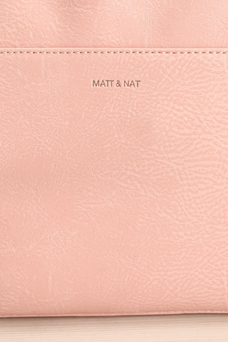 Cassidi Rose Pink Matt & Nat Crossbody Bag front close-up | La Petite Garçonne