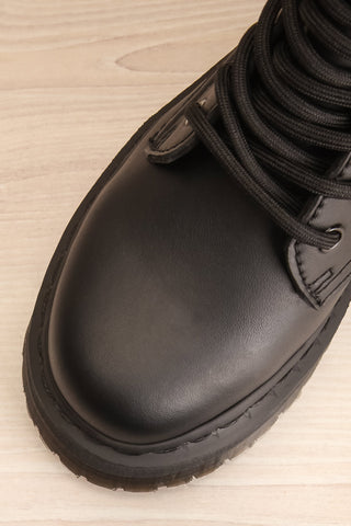 Castletown Vegan Black Dr. Martens Boots flat lay close-up | La Petite Garçonne Chpt. 2