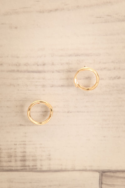 Cedo Gold Bent Circle Stud Earrings | La petite garçonne