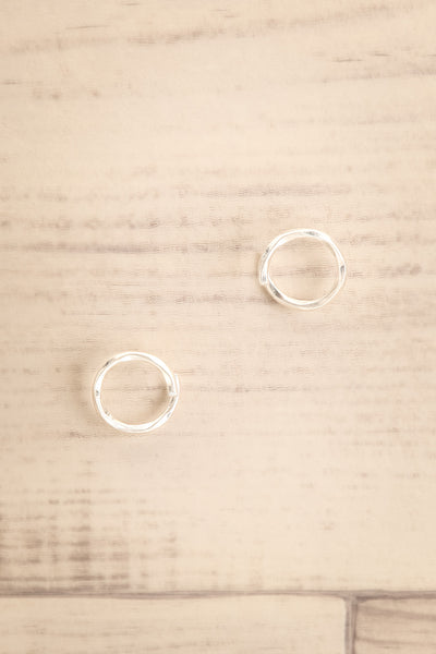 Cedo Silver Bent Circle Stud Earrings | La petite garçonne