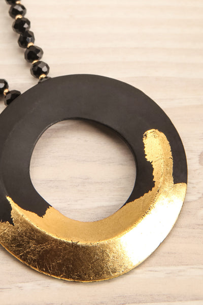 Celotium Black & Gold Long Pendant Necklace | La Petite Garçonne 2