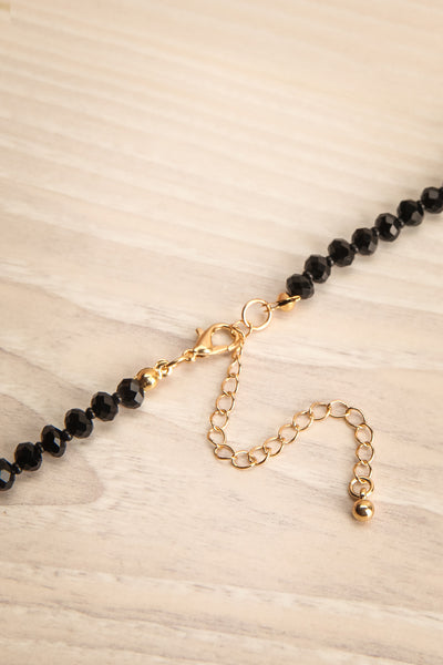 Celotium Black & Gold Long Pendant Necklace | La Petite Garçonne 5