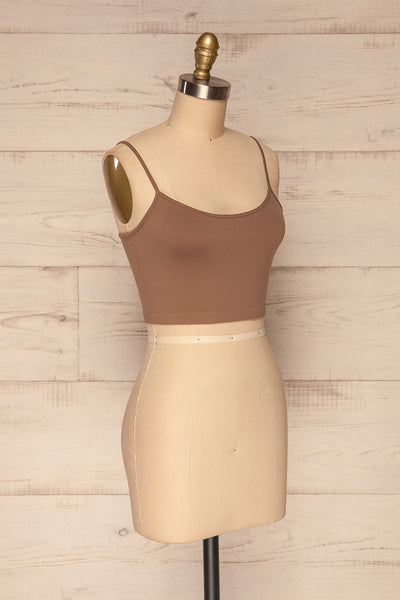 Cento Brown Bralette Crop Top | La petite garçonne side view