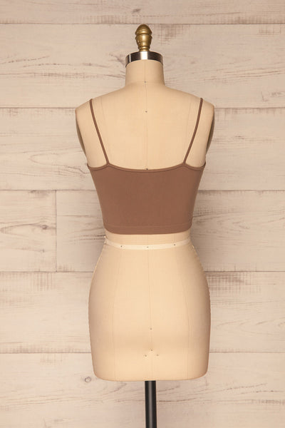 Cento Brown Bralette Crop Top | La petite garçonne back view