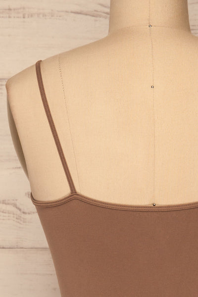 Cento Brown Bralette Crop Top | La petite garçonne back close-up