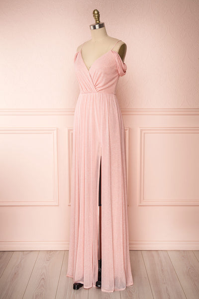 Cephee Blush Glitter Dress | Robe | Boutique 1861 side view