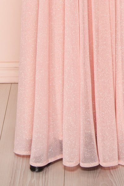 Cephee Blush Glitter Dress | Robe | Boutique 1861 bottom close-up