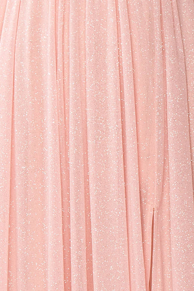 Cephee Blush Glitter Dress | Robe | Boutique 1861 fabric detail