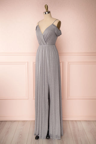 Cephee Grey Glitter Dress | Robe à Brillants | Boutique 1861 side view