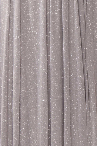 Cephee Grey Glitter Dress | Robe à Brillants | Boutique 1861 fabric detail